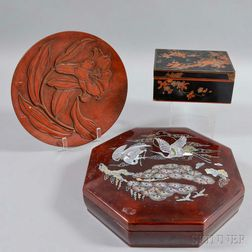 Three Lacquered Items
