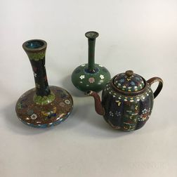 Three Japanese Cloisonne Items