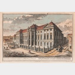 Austrian and German Schools, 18th Century, Four Framed Views of Vienna and Environs: Martin Sichnit (Austrian, 1754-1804), Vue de la Po