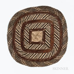 Small Micronesian Woven Mat, Nieded