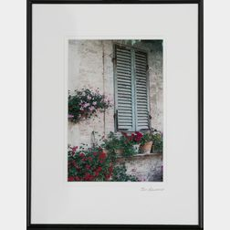 John Gaumond (Massachusetts), Siena I, Shuttered Window and Flowers