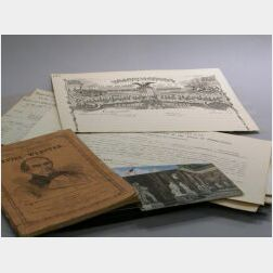 Group of Mostly Partially Printed Ephemera Related to the Civil War