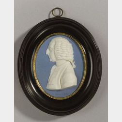 Wedgwood and Bentley Solid Blue Jasper Portrait Medallion of William Pitt