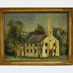Martha Mignonne Ryther (American, 1896-1981)      White Church, Possibly Cape Cod