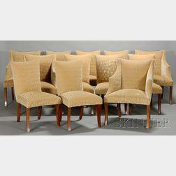 Twelve Donghia Phantom Chairs with Additional Fabric