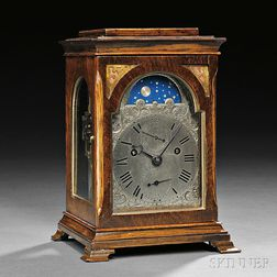 Yonge & Son, Rosewood-veneered, Quarter-striking Miniature Table Clock