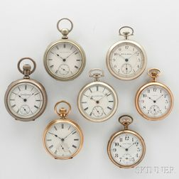 Seven Open Face Watches