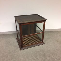 Glazed Oak Table-top Display Cabinet