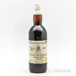 Madeira (Shipped by Cossart, Gordon & Co., Bottled by Evans, Marshall & Co.) Centenary Bual Solera 1845, 1 bottle