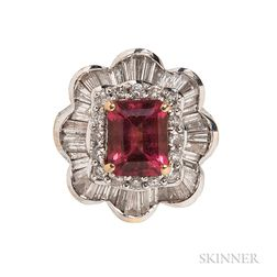 18kt Gold, Pink Tourmaline, and Diamond Ballerina Ring