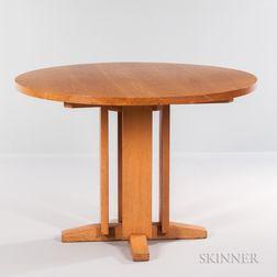 Charles Webb Round Oak Dining Table