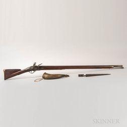 British Pattern 1769 Short Land Musket, Bayonet, and Horn
