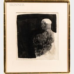 Henry Schwartz (American, 1927-2009)      Two Framed Figural Ink Drawings:   Untitled Head of a Bearded Man
