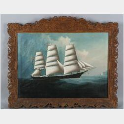 Chinese School, 19th Century  Portrait of the Clipper Ship The Nancy Pendleton
