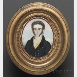 Portrait Miniature of Gentleman with Muttonchop Sideburns