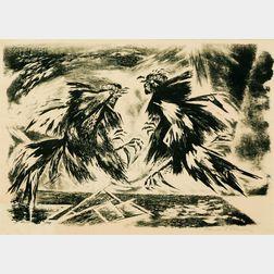 Edward (Eduardo) Arcenio Chavez  (American, 1917-1995)      Fighting Cocks