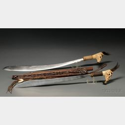 Two Indonesian Wood and Metal Kris