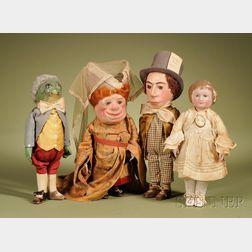 """Rare Martha Chase """"Alice in Wonderland"""" Four-Piece Set"""