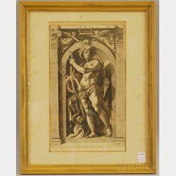 Hendrik Goltzius, After Polidoro Da Caravaggio      Sol/The Sun