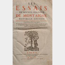Montaigne, Michel de (1533-1592) Les Essais