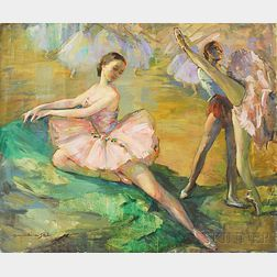 Marian Williams Steele (American, 1912-2001)      Ballet Dancers