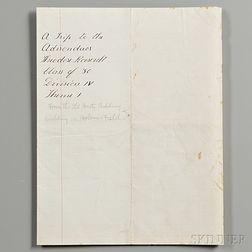 Roosevelt, Theodore (1858-1919) Signed Manuscript School Paper, Harvard, [pre-1880].