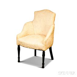 Louis XVI-style Carved and Crewel-upholstered Side Chair