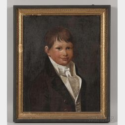 Attributed to Charles Delin (Holland, 1756-1818)      Portrait of a Young Man