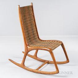 Gerald Bellas Studio Furniture Rocking Chair