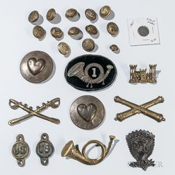 Group of Civil War Buttons and Insignia