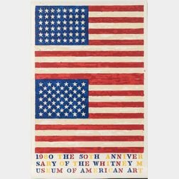 Jasper Johns (American, b. 1930)      Two Flags (Whitney Anniversary)