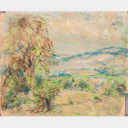 Arthur Clifton Goodwin (American, 1866-1929)      Blue Landscape