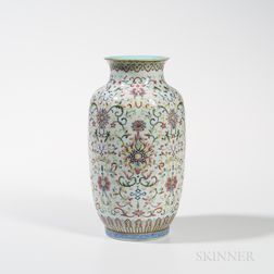 Famille Rose Lantern Vase