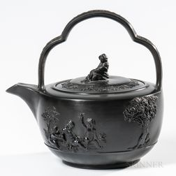 Wedgwood Black Basalt Rum Pot and Cover
