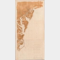 A Chart of the Coast of New York, New Jersey, Pensilvania, Maryland, Virginia, North Carolina, &c. Composed [...] by Jos. Fred. W. Des