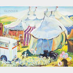 Frank Carson (American, 1881-1968)      Circus in the Cornfield