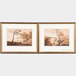 Benedikt Piringer (Austrian, 1780-1826), After Christian Wilhelm Ernst Dietrich (aka Dietricy) (German 1712-1774), Two Framed Aquatints
