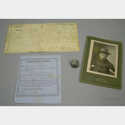 Two Civil War Era, Maine Military Enlistment and Discharge Related Documents
