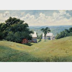 Harold Broadfield Warren  (American, 1859-1934)      View of the Homestead in Westminster, Possibly Vermont