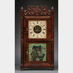 Mahogany Empire Shelf Clock by Silas B. Terry