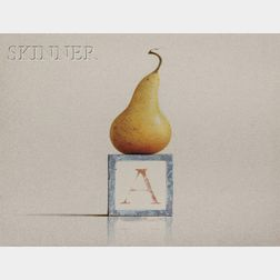 Alan Magee (American, b. 1947)      Pear and Block