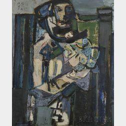Zvi Mairovich (Israeli, 1911-1974)      Flower Girl