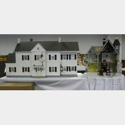 Two Wooden Dollhouses
