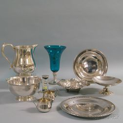 Ten Pieces of Sterling Silver and Silver-mounted Tableware and Decorative Items
