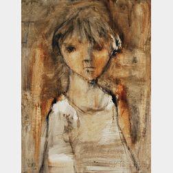 American School, 20th Century      Half-Length Portrait of a Child.