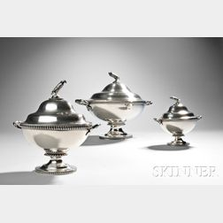 Three Tiffany & Co. Sterling Silver Tureens and Covers