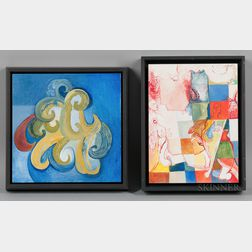 Jennifer K. Moses (American, 20th/21st Century)      Two Paintings: Ascend