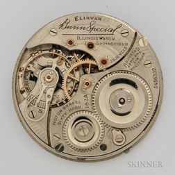 """Illinois """"Bunn Special"""" Model 163A Movement and Dial"""