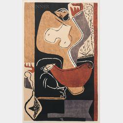 Le Corbusier (French/Swiss, 1887-1965)      Femme à la main levée
