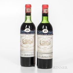 Chateau Margaux 1966, 2 bottles